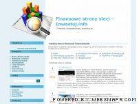 Katalog stron finansowych - Inwestuj.info
